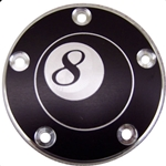 8 Ball Black with Silver