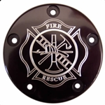 Firefighter Maltese Cross Black